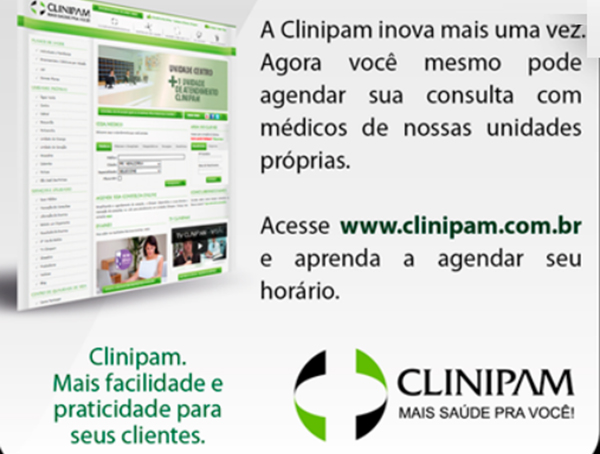 Agendar consultas online - Clinipam