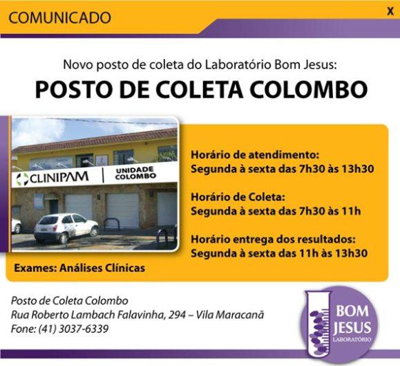 Laboratório Bom Jesus: Unidade Clinipam Colombo